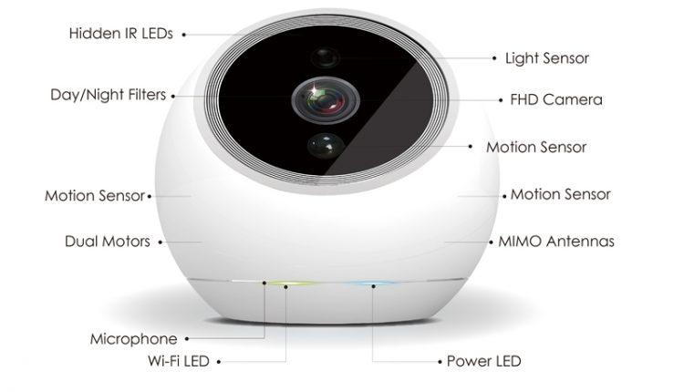 """iCamPro FHD: """"protinga"""" vaizdo kamera su sekimo funkcija"""