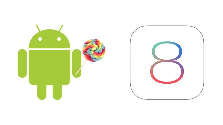"""Android 5.0 Lollipop"" stabilesnis už ""iOS 8"""