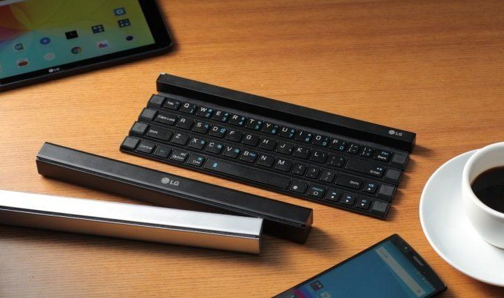 LG pristatė nešiojamą klaviatūrą išmaniesiems įrenginiams