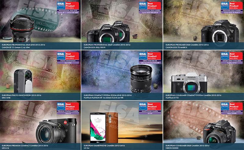 Geriausi fotoaparatai, objektyvai ir kita foto technika 2015 - 2016