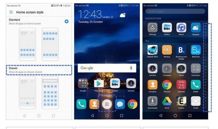 "Huawei Mate 8, P9, P9 Plus, Nova ir Nova Plus gaus ""Android Nougat"""