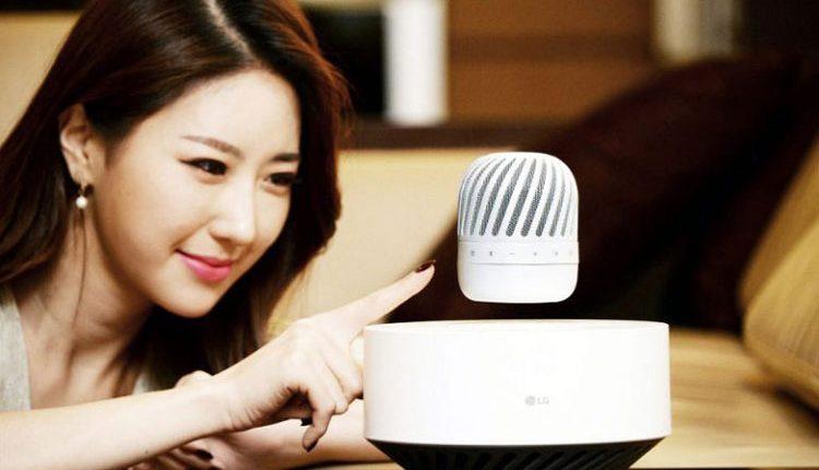 LG pristatė levituojančią Bluetooth kolonėlę