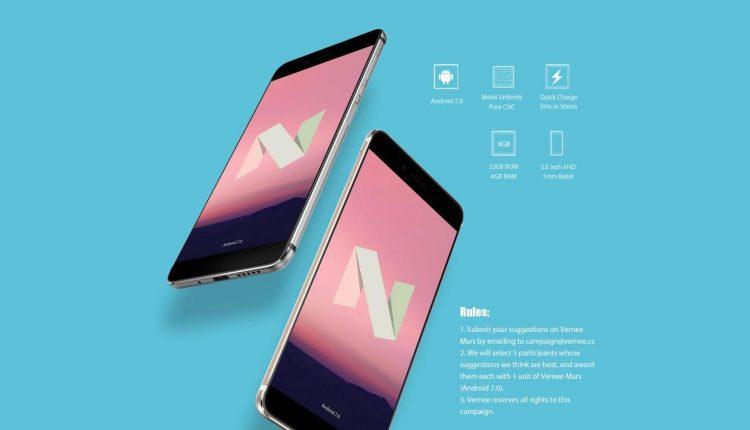 """Naujųjų Metų išpardavimas! 80 $ nuolaida iki """"Android 7.0"""" atnaujintam """"Vernee Mars"""""""