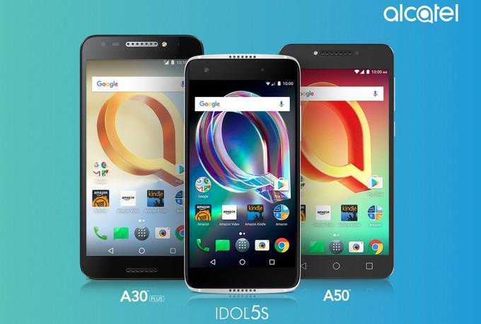 Alcatel Idol 5S, A50 ir A30 Plus