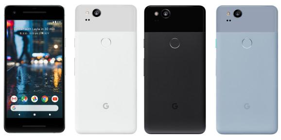 """""""Google Pixel 2"""" ir """"Pixel 2 XL"""" kainos ir specifikacijos"""