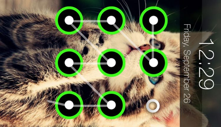 Android ekrano užrakto šablonas yra mažiau saugus nei PIN kodas