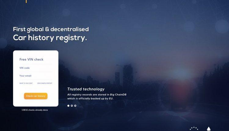 Lietuvių startuolis pasauliniam automobilių registrui vystyti išleido savo kriptovaliutą ir surinko 10 mln. dolerių