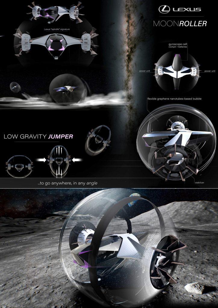 """""""Bouncing Moon Roller"""", autorius – Julien Marie"""
