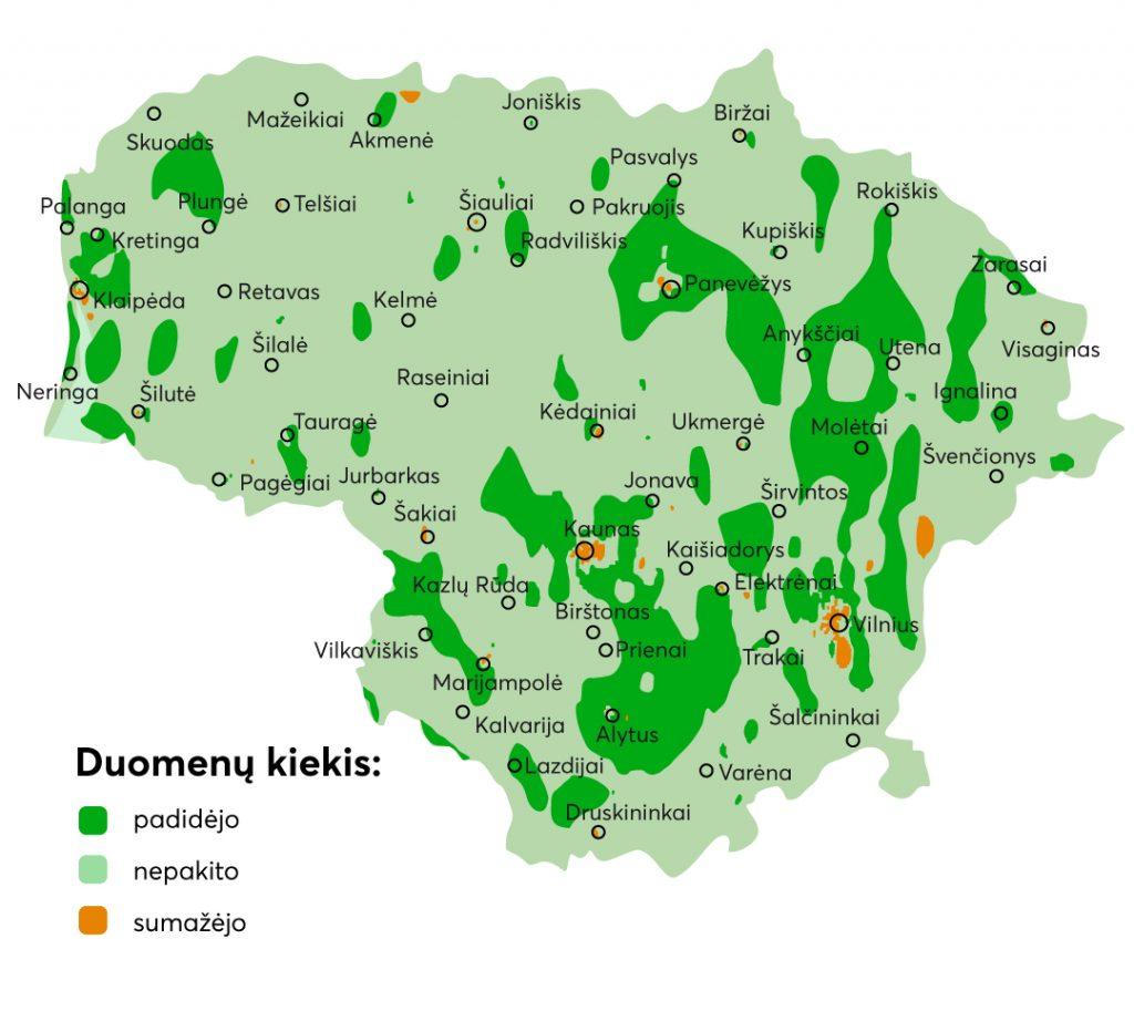 Duomenu suvartojimas Lietuvoje