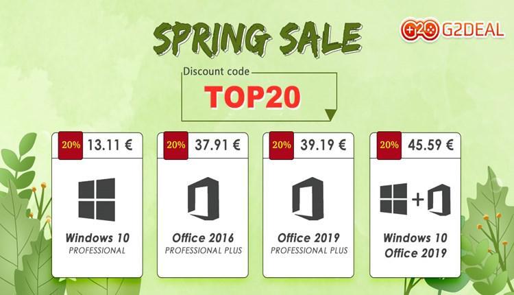 """Karšto pavasario pasiūlymai """"G2deal"""":  gaukite """"Windows 10"""" už 13 EUR, o """"Office 16"""" – už 37 €"""